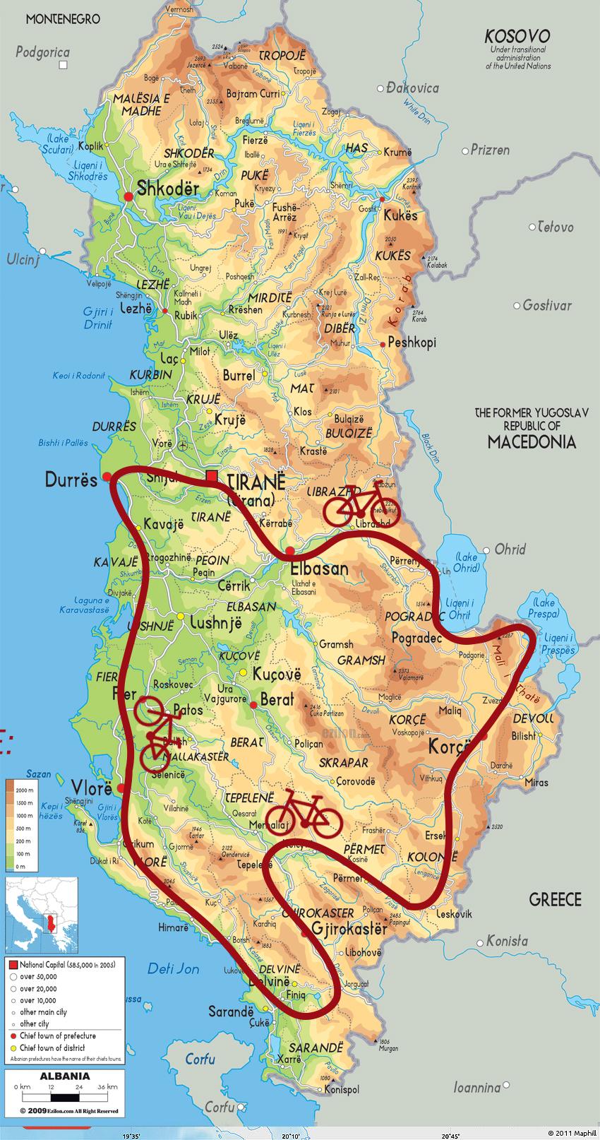 Albania del sud by bike